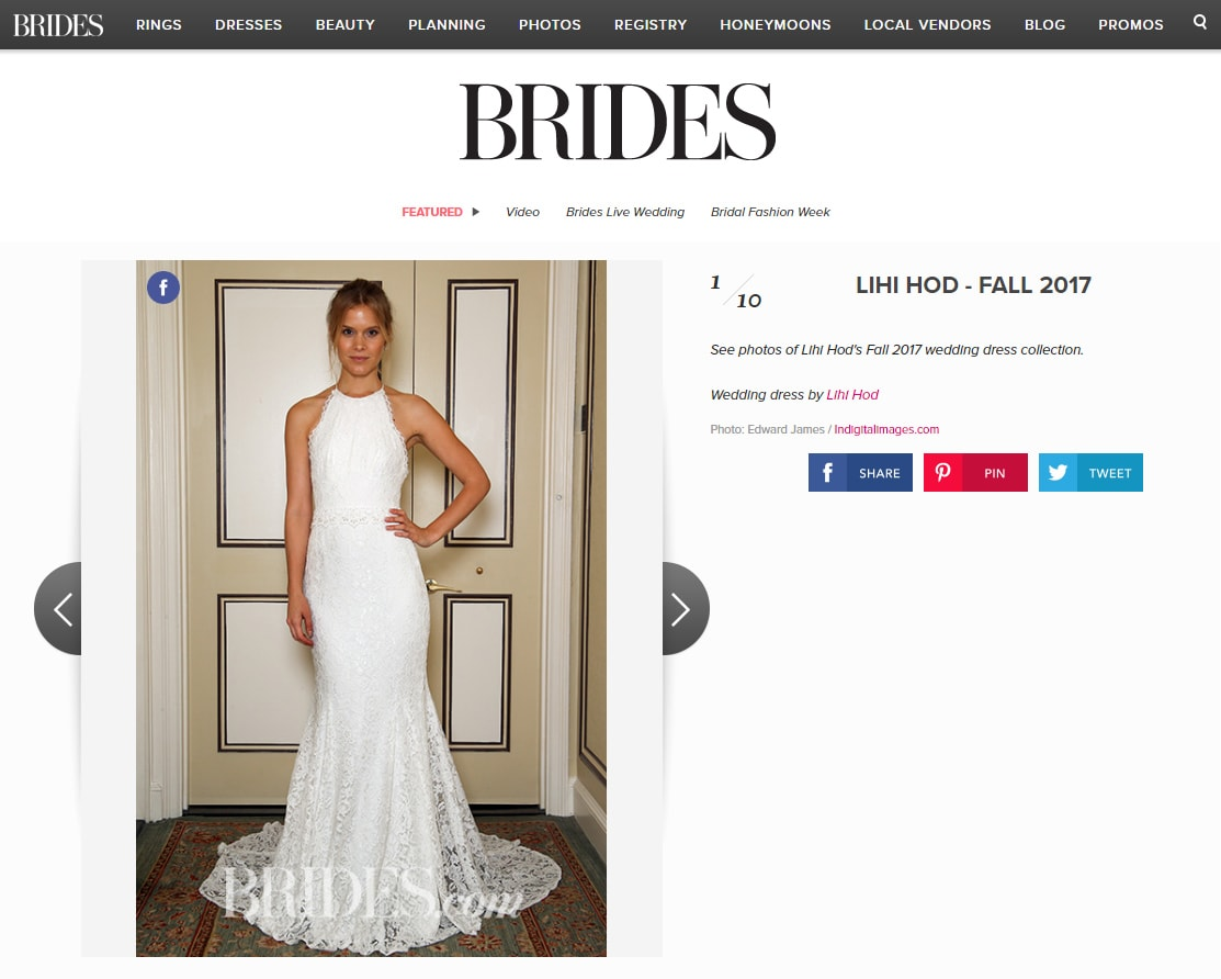 Brides.com: LIHI HOD - FALL 2017