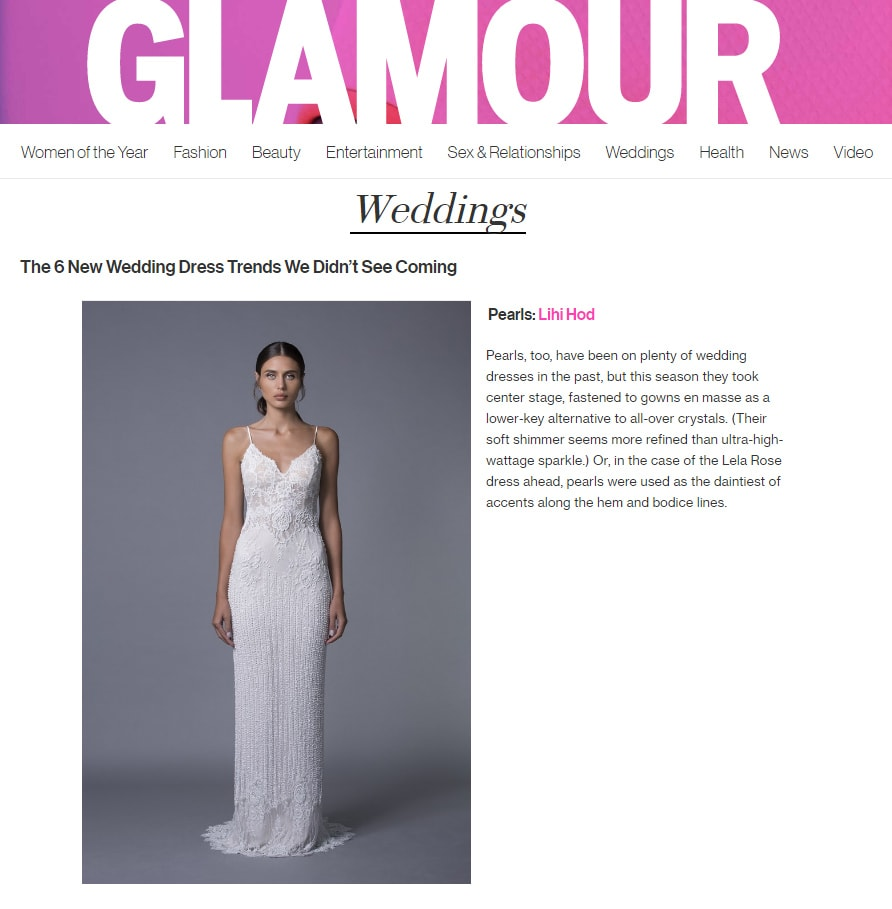 GLAMOUR: The 6 New Wedding Dress Trends We Didn't See Coming