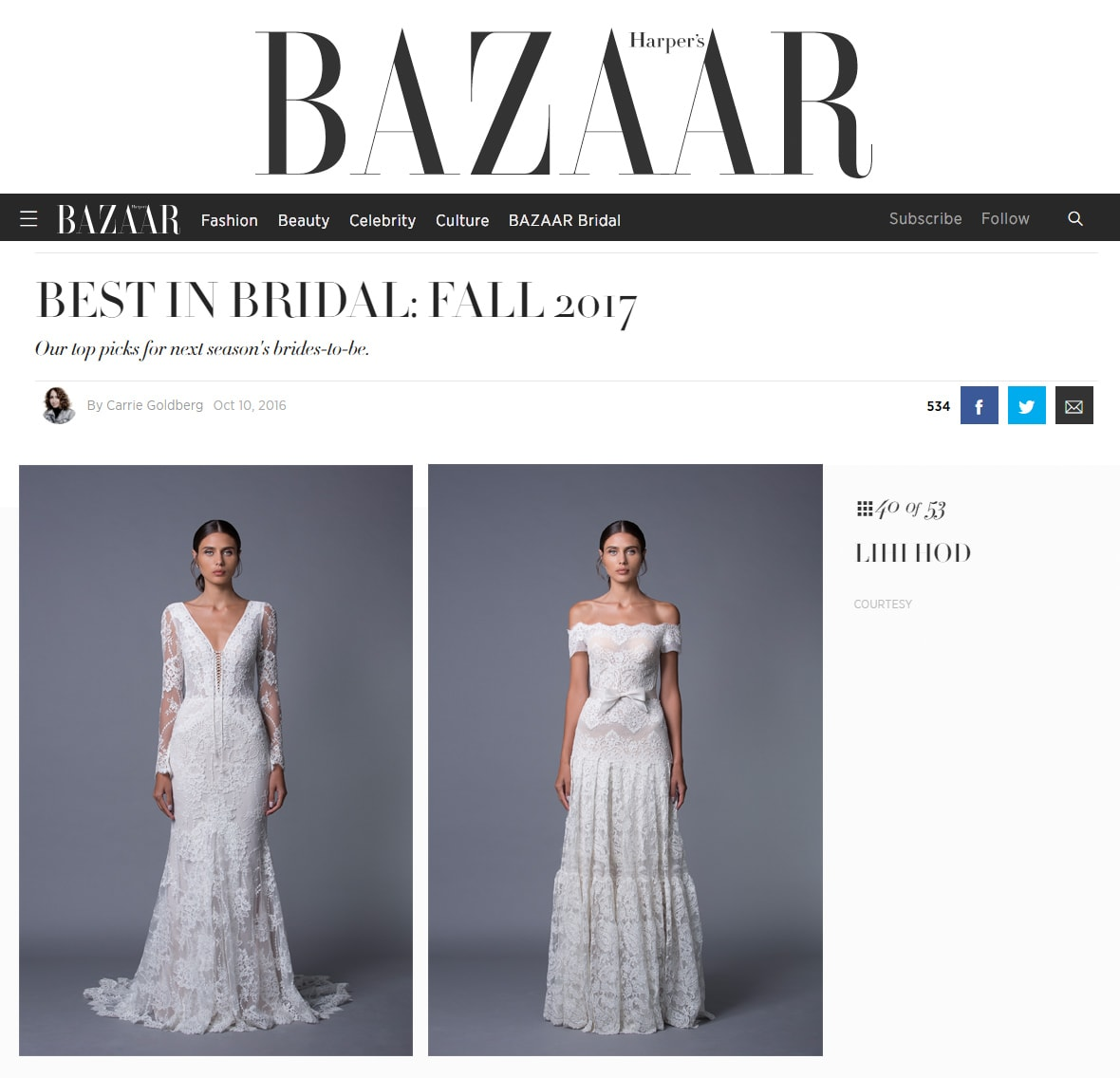 Best in Bridal: Fall 2017