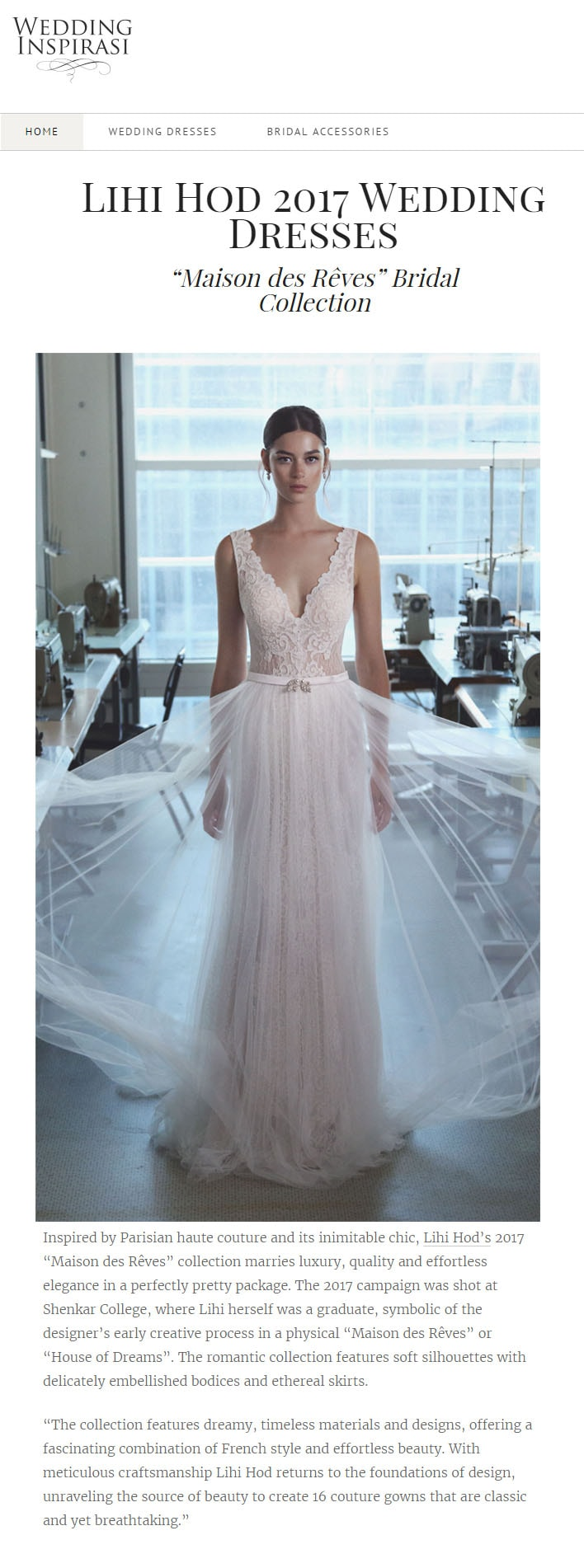 Wedding Inspirasi: LIHI HOD 2017 WEDDING  DRESSES