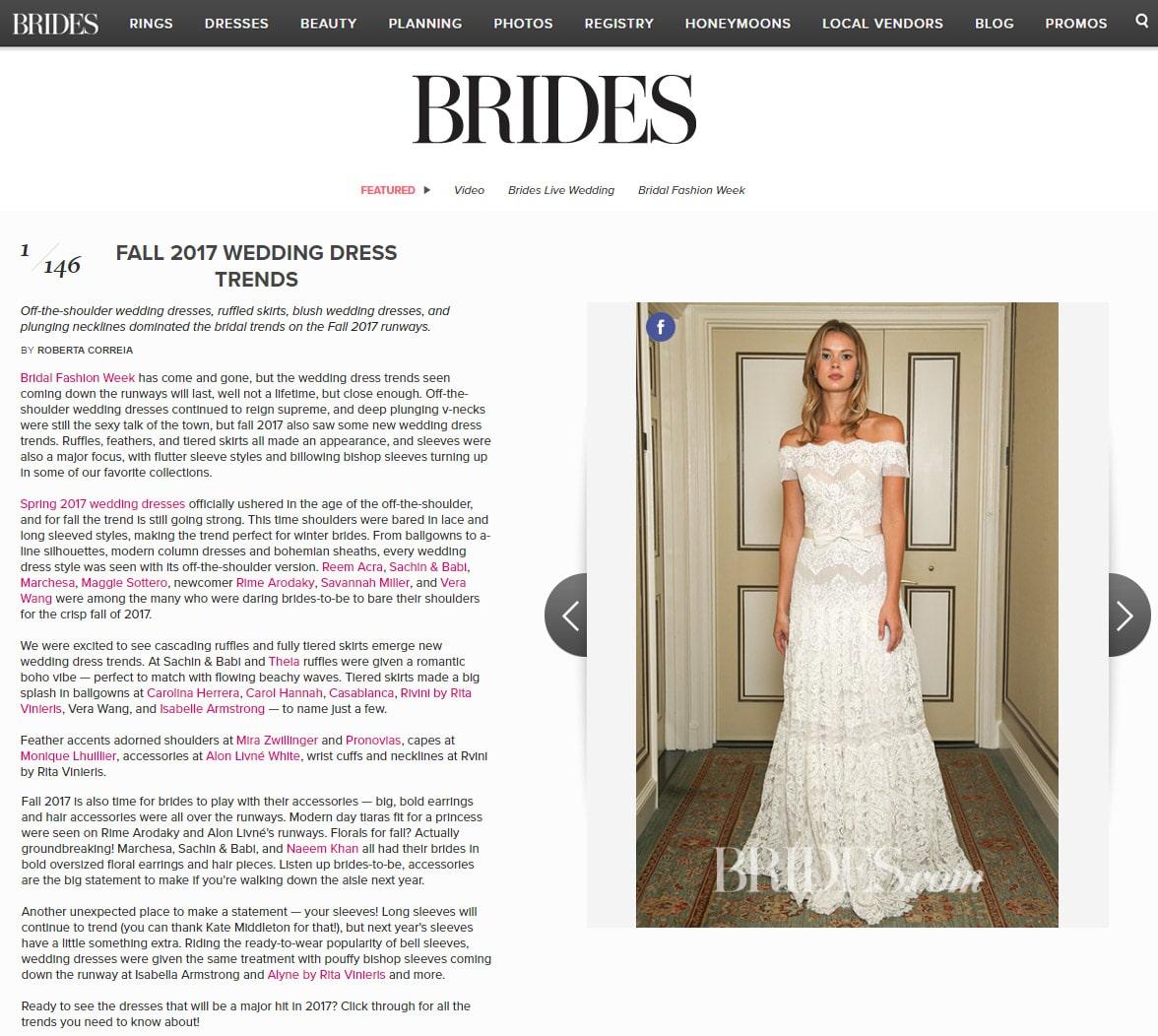 Brides.com: FALL 2017 WEDDING DRESS TRENDS