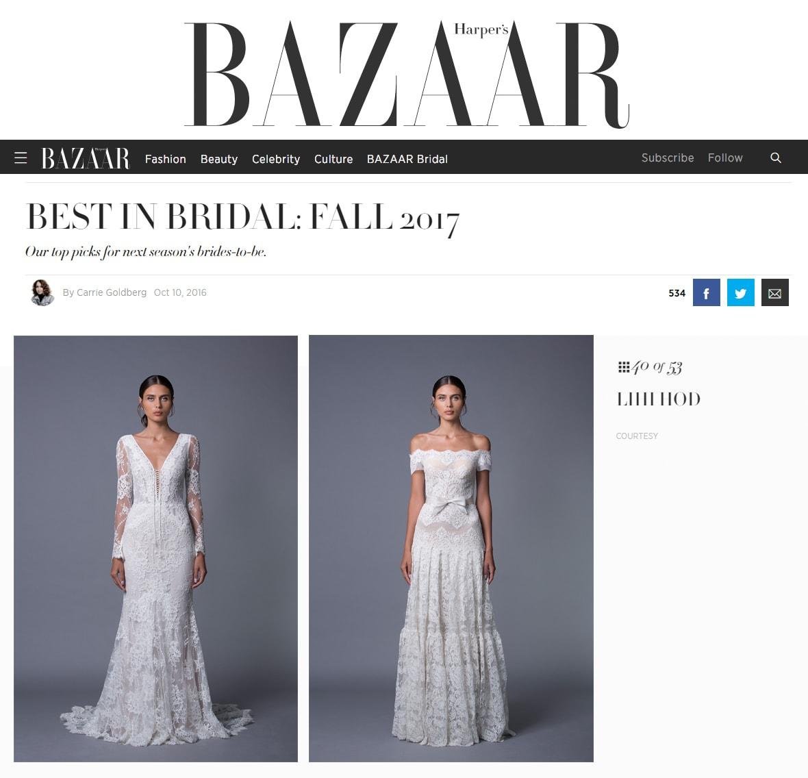 Best in Bridal: Fall 2017