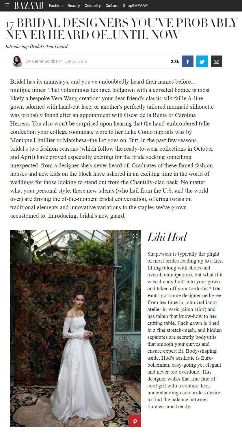 Harper Bazaar's New Designers: 17 Bridal Designers You've Probably Never Heard Of... Until Now