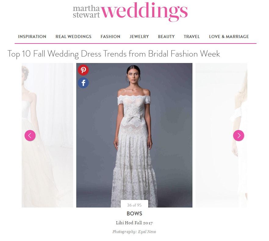 Martha Stewart Weddings: Top 10 Fall Wedding Dress Trends from Bridal Fashion Week